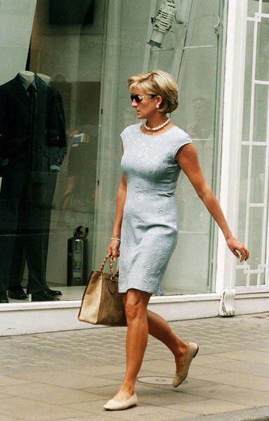 Model Dress Selutut Cantik Lengan Pendek Lady Diana 2